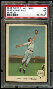 1959 Fleer Baseball #8 Ted Williams PSA 7 (NM) *6550