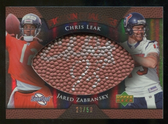 2007 Upper Deck Sweet Spot Pigskin Signatures Dual #LZ Chris Leak Jared Zabransky /50