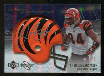 2007 Upper Deck Sweet Spot Signatures Gold #VTH T.J. Houshmandzadeh /5