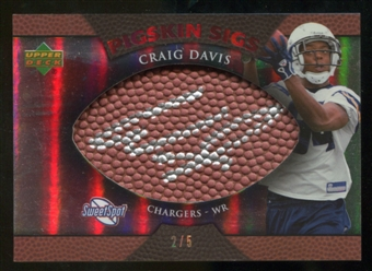 2007 Upper Deck Sweet Spot Pigskin Signatures Red #CD2 Craig Buster Davis /5