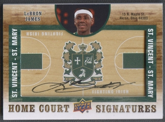 2011/12 SP Authentic #HCLJ LeBron James Home Court Signatures Auto