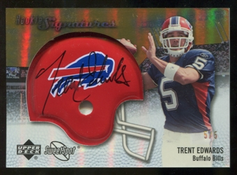 2007 Upper Deck Sweet Spot Rookie Signatures Gold 5 #102 Trent Edwards Autograph /5