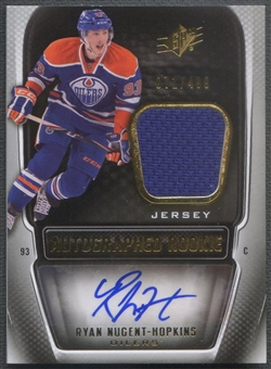 2011/12 SPx #205 Ryan Nugent-Hopkins Rookie Jersey Auto #071/499