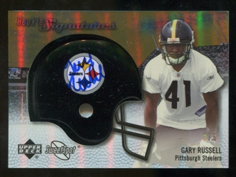 2007 Upper Deck Sweet Spot Rookie Signatures Gold #122 Gary Russell /5