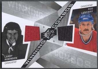 2008/09 SPx #WCRL Larry Robinson & Rod Langway Winning Combos Jersey