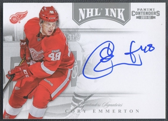 2011/12 Panini Contenders #16 Cory Emmerton NHL Ink Auto SP