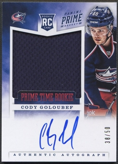 2012/13 Panini Prime #34 Cody Goloubef Prime Time Rookie Jersey Auto #38/50