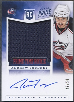2012/13 Panini Prime #35 Andrew Joudrey Prime Time Rookie Jersey Auto #49/50