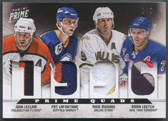 2012/13 Panini Prime #6 Brian Leetch John LeClair Pat LaFontaine Mike Modano Quad Patch #1/5