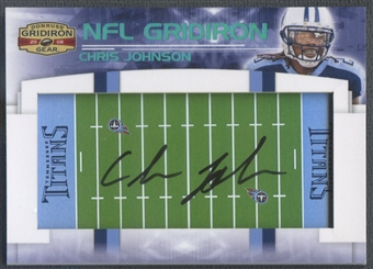 2008 Donruss Gridiron Gear #1 Chris Johnson NFL Gridiron Rookie Auto #05/40