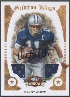 2009 Donruss Threads #13 Danny White Pro Gridiron Kings Materials Jersey Auto #17/20
