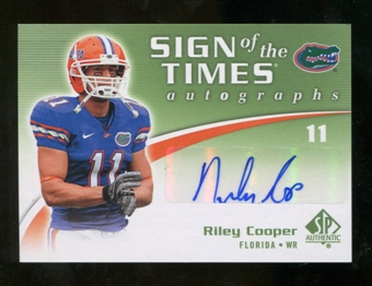 2010 Upper Deck SP Authentic Sign of the Times #RC Riley Cooper Autograph