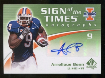 2010 Upper Deck SP Authentic Sign of the Times #AB Arrelious Benn Autograph