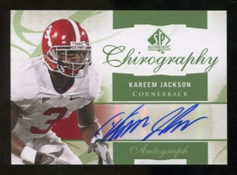 2010 Upper Deck SP Authentic Chirography #KJ Kareem Jackson Autograph