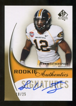 2010 Upper Deck SP Authentic Gold #143 Sean Weatherspoon RC Autograph 18/25