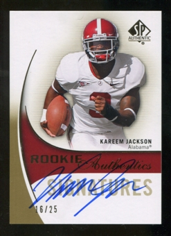 2010 Upper Deck SP Authentic Gold #144 Kareem Jackson RC Autograph 16/25