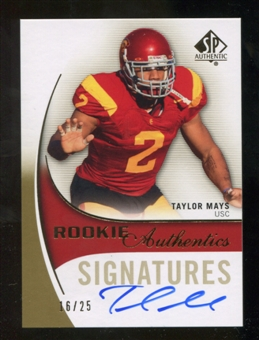 2010 Upper Deck SP Authentic Gold #151 Taylor Mays RC Autograph 16/25