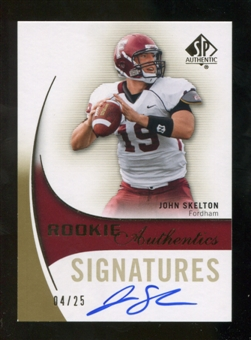 2010 Upper Deck SP Authentic Gold #154 John Skelton RC Autograph 4/25