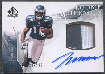 2009 SP Authentic #385 Jeremy Maclin Rookie Patch Auto #520/999