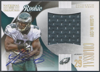 2009 Playoff National Treasures #3 LeSean McCoy Rookie Colossal Jersey Auto #04/50