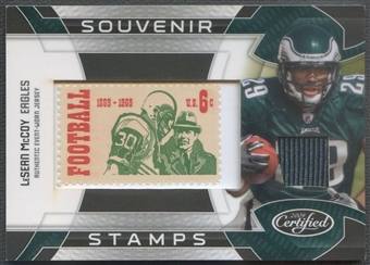 2009 Certified #10 LeSean McCoy Rookie Souvenir Stamps 1969 Stamp Jersey #14/50