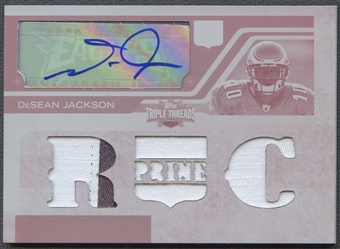 2008 Topps Triple Threads #113 DeSean Jackson Rookie Printing Plate Magenta Patch Auto #1/1
