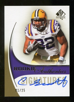 2010 Upper Deck SP Authentic Gold #167 Charles Scott RC Autograph 1/25