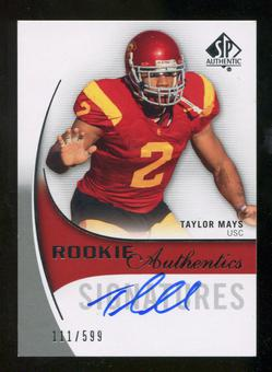 2010 Upper Deck SP Authentic #151 Taylor Mays Autograph /599