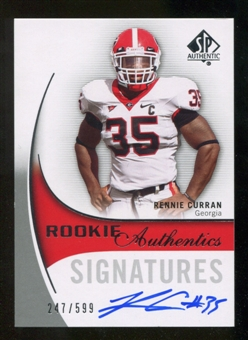 2010 Upper Deck SP Authentic #152 Rennie Curran Autograph /599