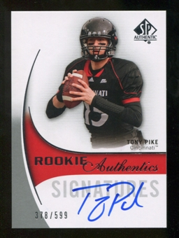 2010 Upper Deck SP Authentic #158 Tony Pike Autograph /599