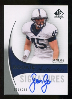 2010 Upper Deck SP Authentic #164 Sean Lee RC Autograph /599