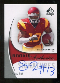 2010 Upper Deck SP Authentic #170 Stafon Johnson Autograph /599