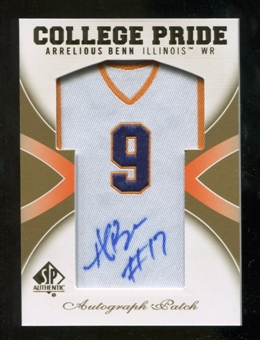 2010 Upper Deck SP Authentic College Pride Patch Autographs #AB Arrelious Benn Autograph
