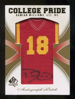 2010 Upper Deck SP Authentic College Pride Patch Autographs #DW Damian Williams Autograph