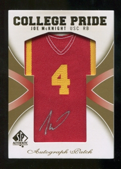 2010 Upper Deck SP Authentic College Pride Patch Autographs #JM Joe McKnight Autograph