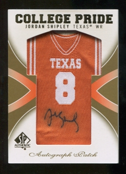 2010 Upper Deck SP Authentic College Pride Patch Autographs #JS Jordan Shipley Autograph