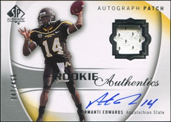 2010 Upper Deck SP Authentic #115 Armanti Edwards Jersey Autograph 47/499