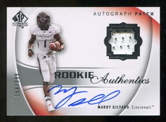 2010 Upper Deck SP Authentic #124 Mardy Gilyard Jersey Autograph /399