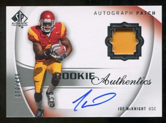 2010 Upper Deck SP Authentic #125 Joe McKnight RC Patch Autograph 79/499