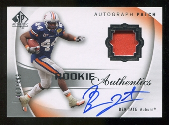 2010 Upper Deck SP Authentic #130 Ben Tate Jersey Autograph /499
