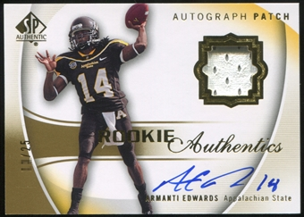 2010 Upper Deck SP Authentic Gold #115 Armanti Edwards RC Patch Autograph /25