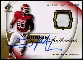 2010 Upper Deck SP Authentic Gold #111 Gerald McCoy RC Patch Autograph 18/25