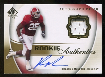 2010 Upper Deck SP Authentic Gold #120 Rolando McClain RC Patch Autograph /25