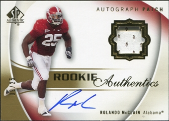 2010 Upper Deck SP Authentic Gold #120 Rolando McClain RC Patch Autograph 9/25