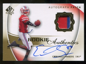 2010 Upper Deck SP Authentic Gold #122 Emmanuel Sanders RC Patch Autograph 4/25