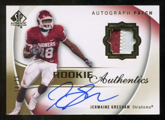 2010 Upper Deck SP Authentic Gold #126 Jermaine Gresham RC Patch Autograph /25
