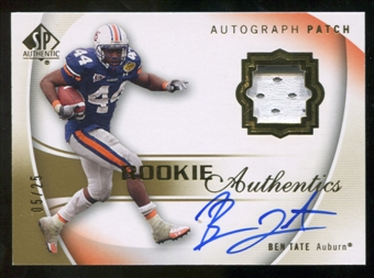 2010 Upper Deck SP Authentic Gold #130 Ben Tate RC Patch Autograph /25