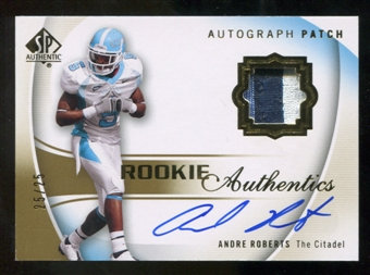 2010 Upper Deck SP Authentic Gold #134 Andre Roberts RC Patch Autograph 25/25