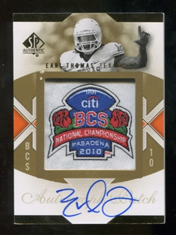2010 Upper Deck SP Authentic Championship Patch Autographs #ET Earl Thomas Autograph