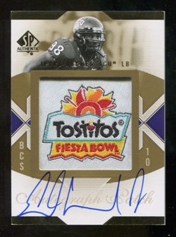 2010 Upper Deck SP Authentic Championship Patch Autographs #HU Jerry Hughes Autograph